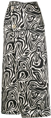 Marni printed wrap skirt