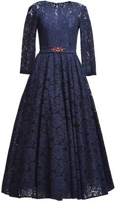 MATSOUR'I - Lace Dress Viktoria Blue