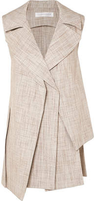 Victoria Beckham Layered Tweed Vest - Beige