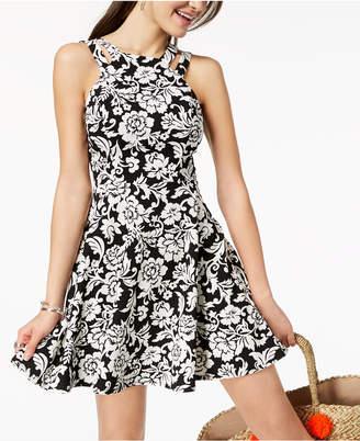 B. Darlin Juniors' Printed Fit & Flare Dress