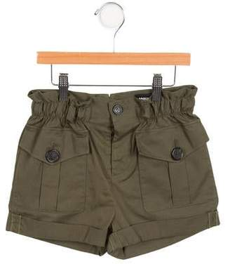 DSQUARED2 Girls' Cuffed High-Rise Shorts w/ Tags