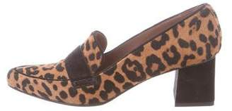 Tabitha Simmons Printed Ponyhair Loafers