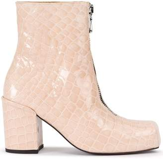 Aalto snakeskin effect boots