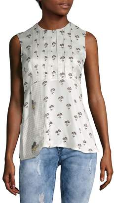 Victoria Beckham Women's Daisy Print Sleeveless Top