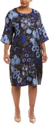 Marina Rinaldi Voyage By Plus Silk Shift Dress