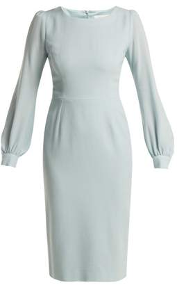 Goat Harper Crepe Dress - Womens - Light Blue