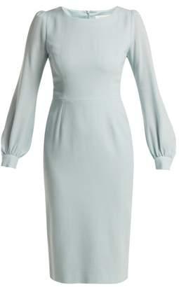 Goat Harper Crepe Dress - Womens - Light Blue