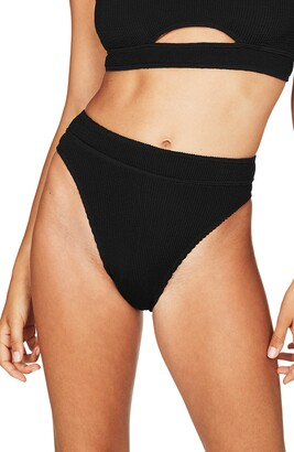 Bond Eye BOUND by Bond-Eye The Savannah High-Waist Ribbed Bikini Bottoms