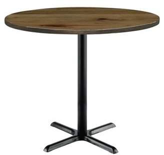 """LOFT KFI seating Urban 30"""" Round Top Table, Natural, Black X Base, 41"""" H"""