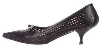Miu Miu Leather Pointed-Toe Pumps