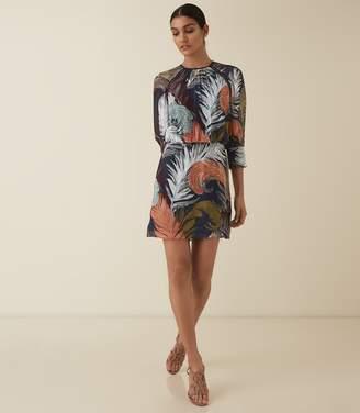 Reiss NAMINA FEATHER PRINTED DRESS Multi