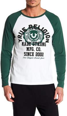 True Religion True Crest Long Raglan Sleeve Tee