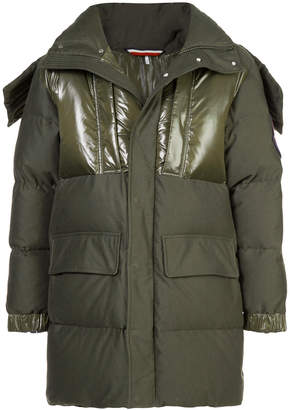 Moncler padded jacket with high shine panels