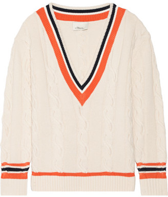 3.1 Phillip Lim - Cable-knit Wool-blend Sweater - Cream $495 thestylecure.com