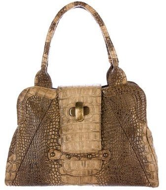 Max Mara MaxMara Embossed Top Handle Bag