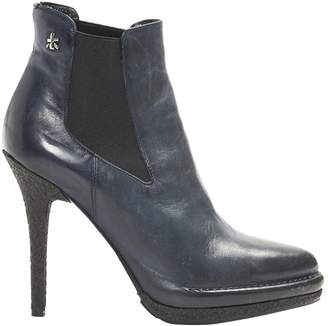 Premiata Navy Leather Ankle boots