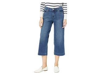 Jag Jeans Lydia Wide Leg Denim Crop in Brilliant Blue