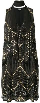 Just Cavalli bead embellished dress