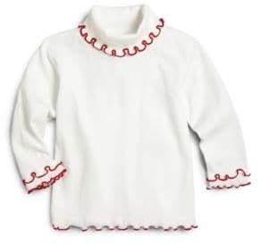 Florence Eiseman Toddler's& Little Girl's Ruffled-Trim Cotton Turtleneck