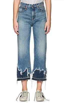 R 13 Women's Camille Distressed Straight Jeans