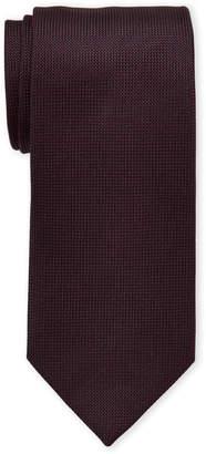 Ermenegildo Zegna Burgundy Silk Tie