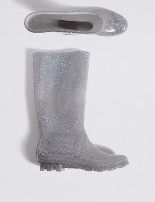 Marks and Spencer Kidsâ Glitter Water Repellent Wellies (13 Small - 6 Large)