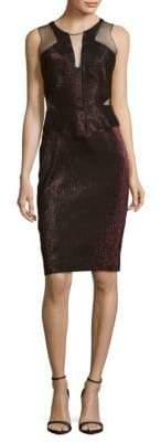 Badgley Mischka Bandage Sleeveless Dress