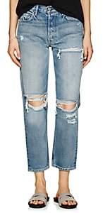 Women's Helena Distressed Straight-Leg Jeans - Blue