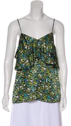 Tibi Floral Silk Blouse