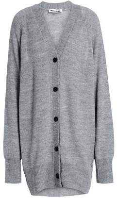 McQ Oversized Mélange Knitted Cardigan