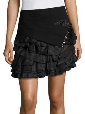 The Kooples Ruffle Tie Skirt
