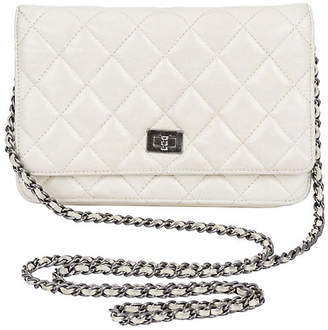 c467be329e950 One Kings Lane Vintage Chanel Reissue Off-White Cross-Body Bag - Vintage Lux