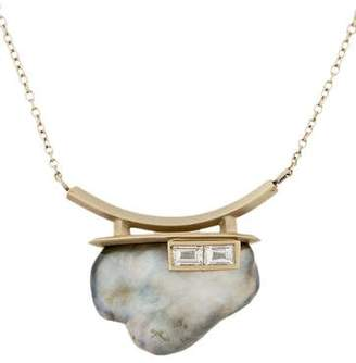 Monique Péan 18K Tahitian Pearl & Diamond Pendant Necklace