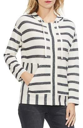 Vince Camuto Wide Stripe Hooded Zip Jacket