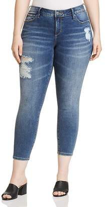 SLINK Jeans Plus Distressed Skinny Ankle Jeans in Annie