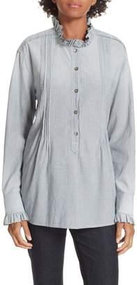 Rebecca Taylor Ruffle Neck Shirt