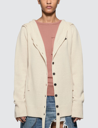 J.W.Anderson Wool Cashmere Hooded Cardigan