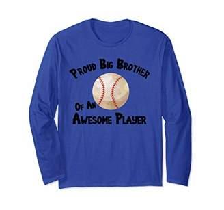 Baseball Softball Proud Big Brother of an Awesome Player Long Sleeve T-Shirt