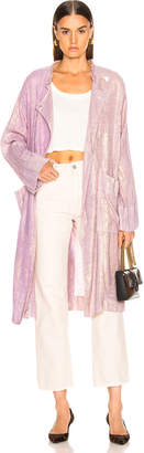 Raquel Allegra Cropped Trench in Lilac | FWRD