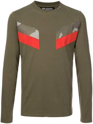 Neil Barrett camo panel T-shirt