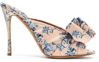 bc0cd566a217 Tabitha Simmons X Johanna Ortiz Lollie Floral Print Silk Mules - Womens -  Pink Multi