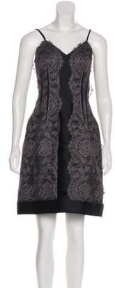 Lanvin Lace Mini Dress Grey Lace Mini Dress