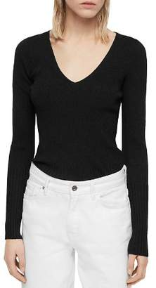 AllSaints Ribba V-Neck Sweater