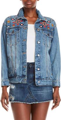 Velvet Heart Embroidered Denim Jacket