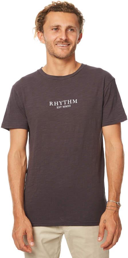 rhythm Hendon Mens T Shirt Grey