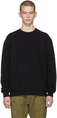 John Elliott Black Oversized Crewneck Sweatshirt