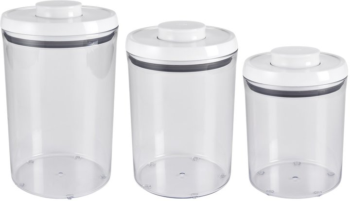 OXO Good Grips Round Canister Set 3pc, White