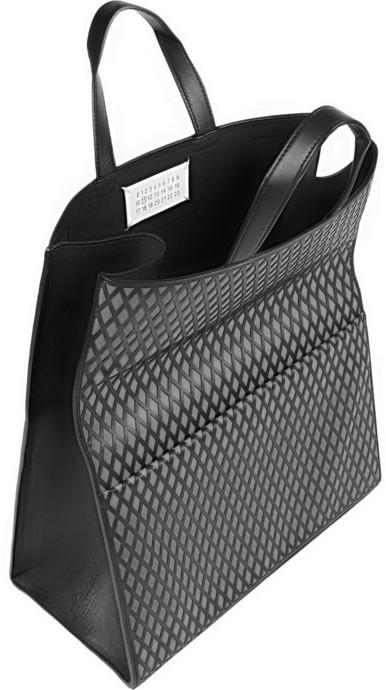 Maison Martin Margiela Convertible fold-over reflective leather clutch