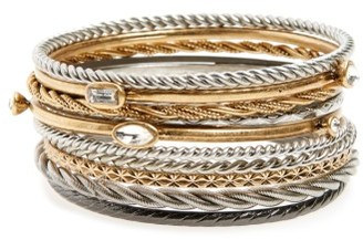 Women's Treasure & Bond Set Of 11 Bangles $49 thestylecure.com