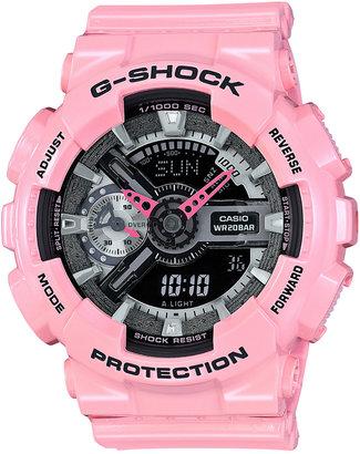 G-Shock Women's Analog-Digital Pink Bracelet Watch 49x46mm GMAS110MP-4A2 $130 thestylecure.com